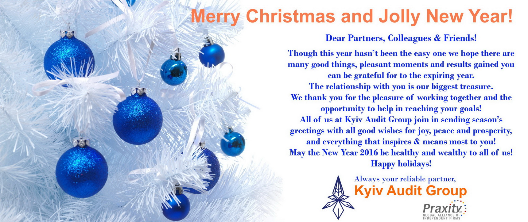 22122015 Seasons Greeting From Kyiv Audit Group